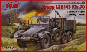 ICMKrupp L2H143 Kfz.70 German Light Army Truck1:72