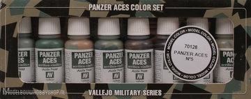 VALLEJOPanzer Aces 8 Color Set: Crew uniforms