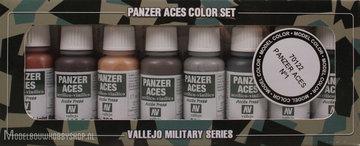 VALLEJOPanzer Aces 8 Color Set: Rust,tracks, rubber, pilot lights