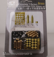 AFV German 15cm Heavy Infantry Gun Ammo Set Brass	1:35