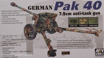 AFV German Pak40  75mm anti tank gun  1:35