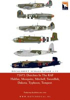 Dutch Decal Dutchies In The RAF/FAA Halifax,Mosquito,Mitchell,Swordfish,Dakota,Typhoon,Spitfire,Tempest  1:72