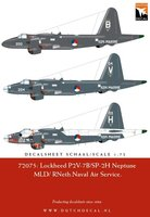 Dutch Decal Lockheed P2V-7B/SP-2H Neptune MLD/RNeth.Naval Air Service 1:72