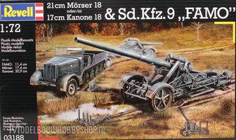 Revell 21cm Morser 18 of 17cm Kanon 18 & Sd.Kfz9 FAMO  1:72