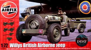 Airfix Willy's Britisch Airborne Jeep  1:72