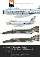 Dutch Decal Soesterberg Eagles,F-86F Sabre,F-4e Phantom 1:32