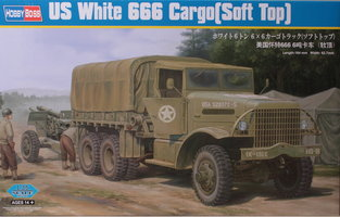 HobbyBoss US White 666 Cargo Soft Top 1:35