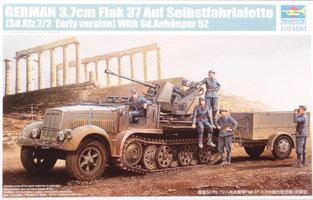 Trumpeter   German 3,7cm Flak 37 Auf Selbstfahrlafette  1:35