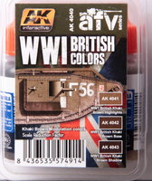 AK AFV Paint  Set WW1 British Colors