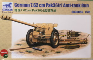 Bronco German 7,62cm PAK36(r) Anti-Tank Gun 1:35
