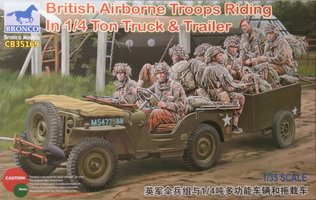 Bronco British Airborne Troops Riding in /4 Ton Truck&Trailer 1:35
