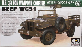 AFV Club U.S. 3/4 Ton Weapons Carrier Beep WC51 1:35
