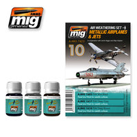 Ammo by Mig Air Weathering set  Metallic Airplanes & Jets
