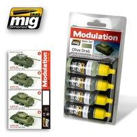 Ammo by Mig Olive Drab Modulation set