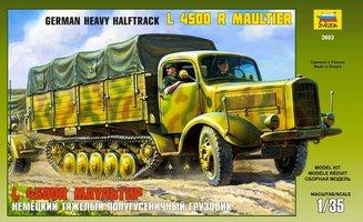 Zvezda German Heavy Halftrack L4500 Maultier  1:35