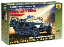 Zvezda Sd.Kfz 251/1 Ausf.B Stuka zu Fuss  1:35