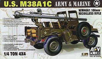AFV Club M38A1C w/M40A1 106mm Recoilless Rifle 1:35