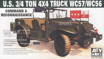 AFV Club U.S. 3/4Ton 4x4 Truck WC57/WC56 1:35