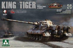 Takom King Tiger Sd.Kfz.182 Henschel Turret w/Zimmerit Pz.Abt.505 1:35