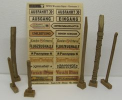 Reality in Scale Wooden Signs Germany W.O.II 1:35