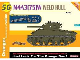 Cyber Hobby M4A3(75)W Weld Hull + logs and backpacks 1:35