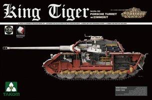 Takom King Tiger Sd.Kfz.182 Porsche Turret w/Zimmerit 1:35