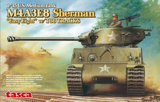 Asuka M4A3E8 Sherman U.S.Medium Tank Easy Eight w/T66 Tracks 1:35