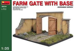 Miniart Farm Gate with Base  1:35