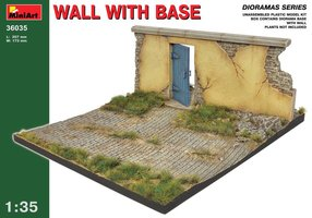 Miniart Wall with Base  1:35