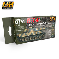 AK AFV Paint Set 1937-44 German  War Colors