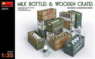 Miniart Milk Bottles&Wooden Crates 1:35