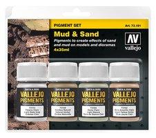 Vallejo Pigmenten set  Mud&Sand