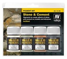 Vallejo pigmentset  Stone&cement