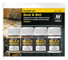 Vallejo Pigmenten set Dust&Dirt