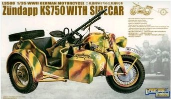 Great Wall Hobby Zundapp KS750 With Sidecar 1:35