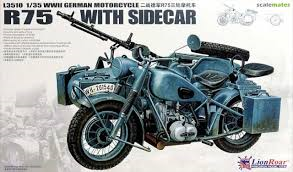 Great Wall Hobby BMW R75 With Sidecar 1:35