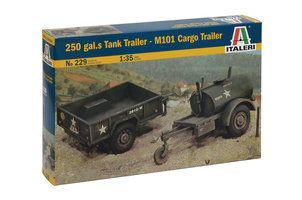 Italeri 250 gal Tank Trailer-M101 Cargo Trailer 1:35
