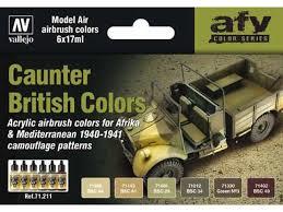 Vallejo Caunter British Colors 1940-41