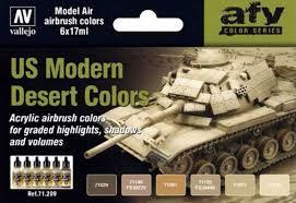 Vallejo US Modern Desert Colors