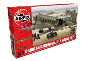Airfix  Douglas Dakota Mk.III&Willys Jeep  1:72