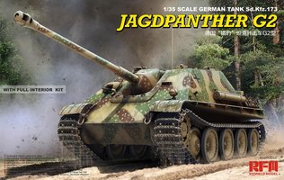 Rye Field Model  Jagdpanther G2 with full interior&workab track links in 1:35