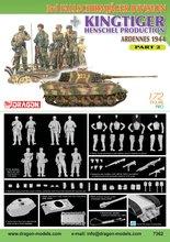 Dragon 3rd Fallschirmjager Division+Kingtiger Henschel  1:72