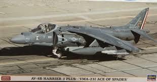 "Hasegawa AV-8B Harrier II Plus ""VMA-231 Ace of Spades""  1:48"